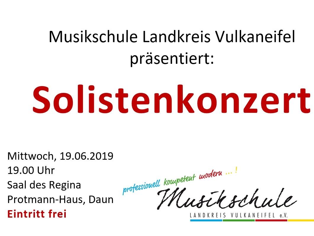 Einladung zum Solistenkonzert
