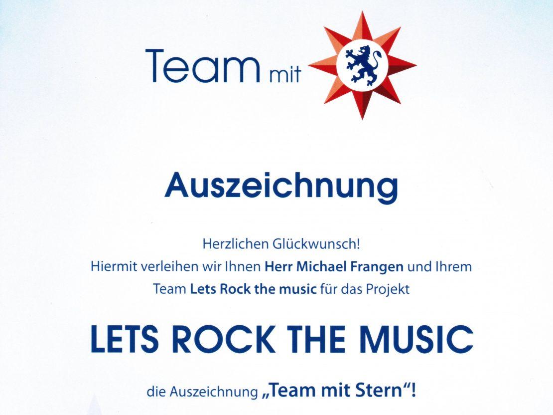 """Auszeichnung der Musikschule Landkreis Vulkaneifel als """"Team mit Stern"""""""